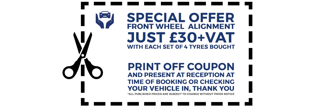 Car Tyre Coupon Voucher Special Offer