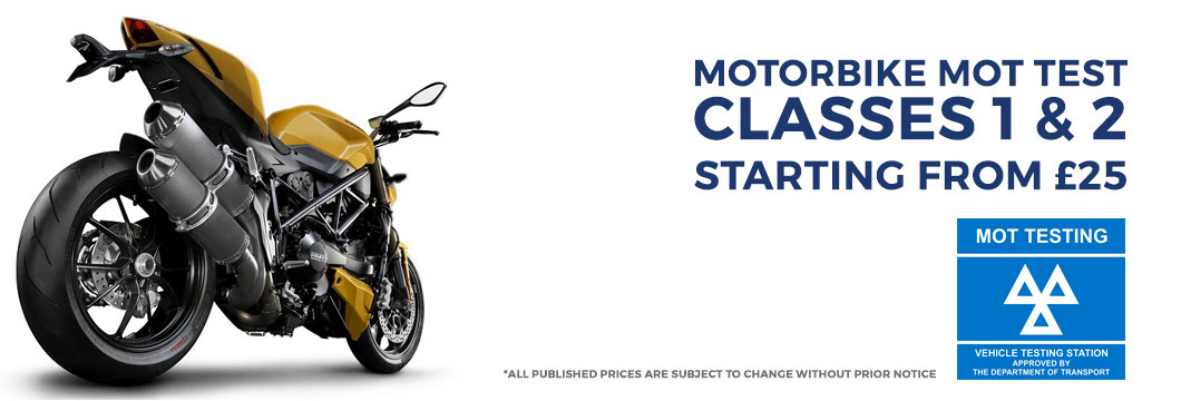 Motorbike MOT Test Centre North London