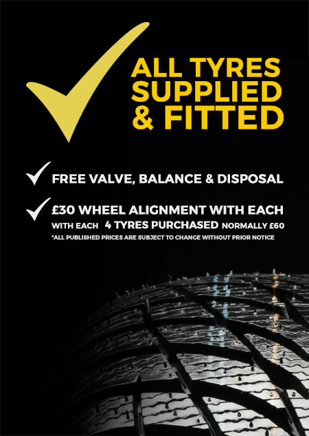 Cheap Car Tyres North London Garage